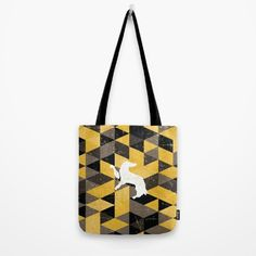 Hufflepuff House Pattern Tote Bag