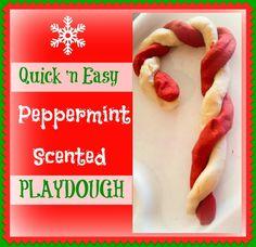 peppermint playdough recipe