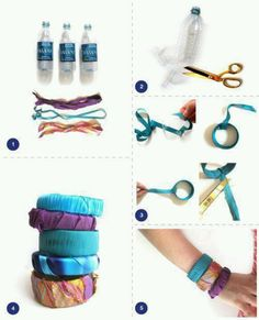 DIY water bottle bangles