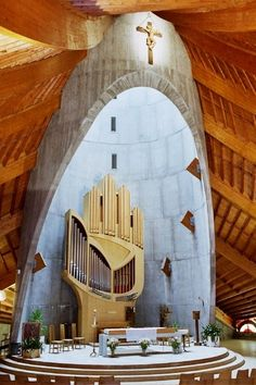 Alpe d'Huez: Notre-Dame des Neiges. The organ is unlike any other as you can see. It is a lovely marriage of art and worship.