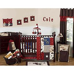 Sweet Jojo Designs Cowboy 9-piece Crib Bedding Set