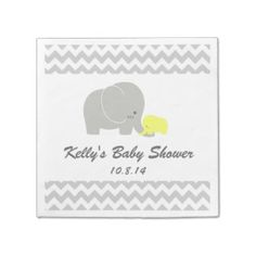 Elephant Baby Shower Disposable Napkin Paper Napkins