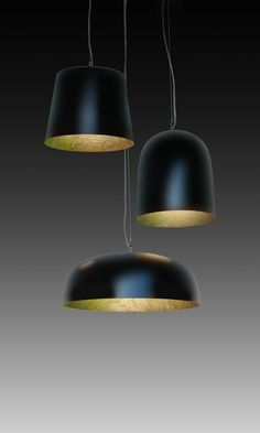 Nieuw from kunstlicht the KL Tross comprising of three different lamps The Bucket, Soft bullit and the With colours and textures the KL Tross can be configured in almost anyway imaginable. Gold Leaf, Lamps, Bucket, Colours, Ceiling Lights, Texture, Canning, Pendant, Black