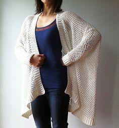 Ravelry: Angela - easy trendy cardigan (crochet) pattern by Vicky Chan