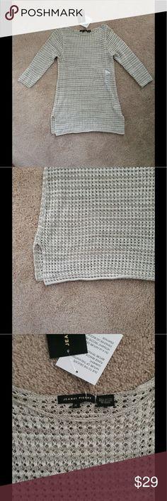 Jeanne Pierre Lightweight Sweater Long, 3/4 sleeves. 100% cotton. Hand wash cold. Jeanne Pierre Sweaters