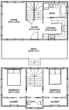 28x16 Tiny House -- #28X16H1 -- 821 sq ft - Excellent Floor Plans