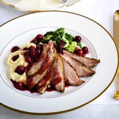 Gordon Ramsay's pan-fried duck breast with spiced orange and cranberry sauce