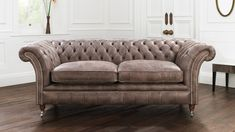 Traditional Chesterfield leather sofa - The Versatility and Allure of Leather Seating