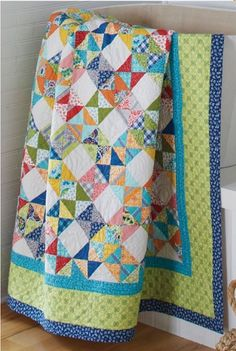 """Brianne"" designed by Joanie Holton and Melanie Greseth; featured in the November/December 2017 issue of Quilting Quickly magazine. Uses Nancy Halvorsen's Bree collection."