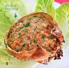 Centollo al horno relleno puedes preparar también bueyes de mar. La preparación es muy sencilla y respeta mucho el sabor del marisco.