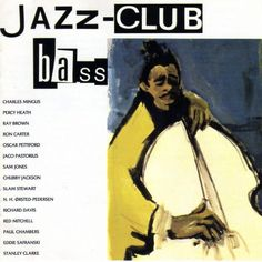 1989 Jazz-Club: Bass [Verve 840037-1] cover painting by Alice Choné #albumcover