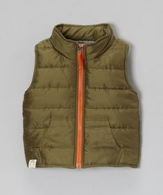 Take a look at this Olive Puffer Vest - Toddler & Boys by Owl & Hoot on #zulily today!