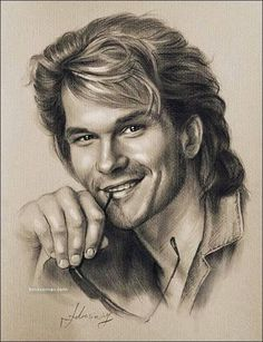 Patrick Swayze in Pencil sketch