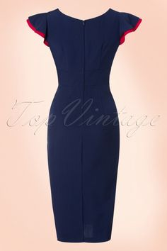 Honor Pencil Dress in Navy and Red Dresses For Teens, Sexy Dresses, Fashion Dresses, Teen Girl Fashion, Cute Fashion, Mode Für Teenies, English Dress, Stop Staring Dresses, Classy Suits