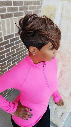 If you have been out running around all day and need to take a mid week break. stop on in today for our Cocktails and happy hour! If you got the email you know what to say! Call now and book your apt *Secret Savings Clients Short Black Hairstyles, Short Hair Cuts, Girl Hairstyles, Short Hair Styles, Natural Hair Styles, Weave Hairstyles, Pixie Cuts, Short Pixie, Love Hair