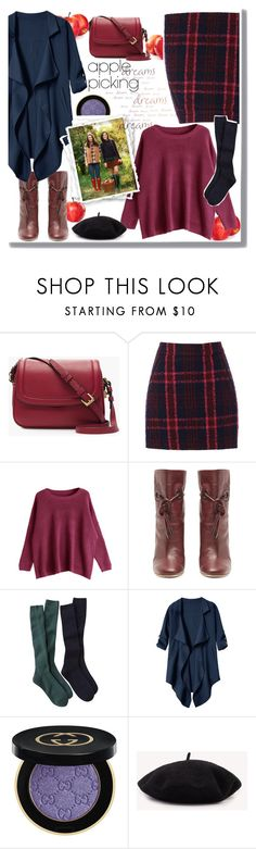 """apple picking 2"" by giada2017 ❤ liked on Polyvore featuring J.Crew, Oasis, Malone Souliers and Gucci"
