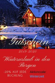 Gutschein Urlaub im Winter in den Bergen, Personen und Wohnung nach Deiner Wahl. Mach deinen liebsten eine Freude...