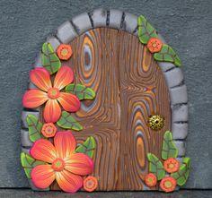 Hibiscus Fairy Door, Miniature Fairy Door, Fairy Garden, Fairy Decor, Portal