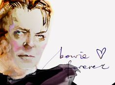 David Bowie Forever Watercolor Portrait marta spendowska