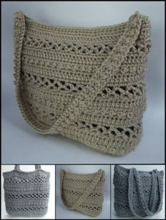 You'll find free crochet bag patterns, crochet purse patterns and even a free tote bag pattern or two. You'll never want to buy a purse or bag ever again. Bag Crochet, Crochet Shell Stitch, Crochet Handbags, Crochet Purses, Crochet Slippers, Crochet Crafts, Crochet Projects, Crochet Baskets, Cotton Crochet