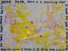 Toddler Handprint Painting with Poem