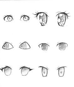 different anime eye styles