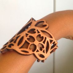 Design Indaba Find - laser cut leather bracelet Laser Cut Leather, Laser Cutting, Cuff Bracelets, My Style, Lady, Womens Fashion, Modern, Accessories, Clothes