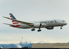 American Airlines Boeing 787-8 Dreamliner N800AN during the final stages of a pre-delivery flight out of Everett-Paine Field, January 2015. (Photo: Dipankar Bhakta)