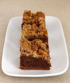 Praline Brownies combine rich brownies with a simple praline topping.