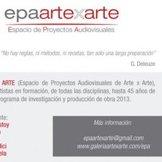"""Convocatoria a artistas """"Espacio de Proyectos Audiovisuales"""". Arancelado [Buenos Aires]"""