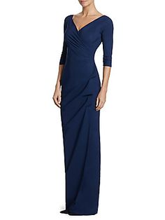 e9d5d2ea7879 Chiara Boni La Petite Robe - Florien Ruched Ruffled Gown Petite Robes, Mom  Dress,