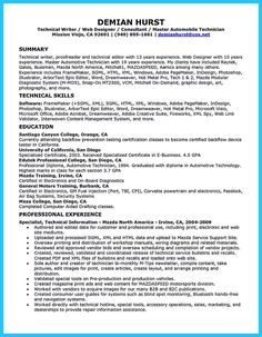 Cool Writing A Concise Auto Technician Resume, Check More At Http://snefci