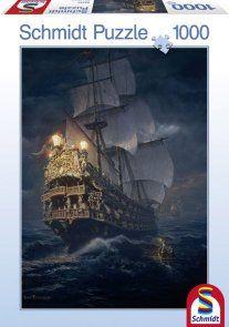 Puzzle 1000 Schmidt 58191 Żaglowiec - On the High Seas - Sarel Theron