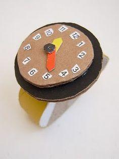 Divertido reloj de pulsera para jugar y aprender las horas.  #manualidades