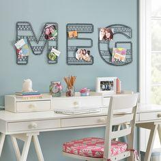 crafty teen room decor | Love this wall art idea from PB teen by jessicaj