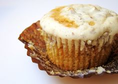 Self Frosting Sweet Potato Cupcakes! (Click Photo for link to the Recipe)