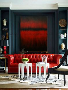 Large Abstract Oil Painting, Wall Art Canvas,Red & Black Painting Original Painting Modern Art Abstract Painting On Canvas by Julia Kotenko by JuliaKotenkoArt on Etsy Decor, Sofa Design, Contemporary Lighting Living Room, Red Rooms, Living Decor, Home Decor, Room, Large Wall Art, Living Room Red