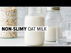 Learn how to make oat milk that's not slimy! I'll share 3 tips plus a secret trick. Oat milk is a creamy, vegan, plant-based, dairy-free milk. Oats Recipes, Milk Recipes, Smoothie Recipes, Free Recipes, Vegan Recipes, How To Make Oats, Bagged Milk, Dairy Free Milk, Breakfast Cereal