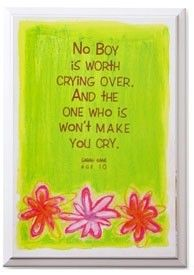 no boy is worth crying over jpeg - Google Search