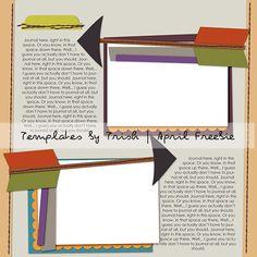 Template freebie from My Scrapbook Art