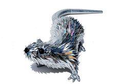 Artista transforma CDs em belíssimas esculturas de animais - e estamos sem palavras!  Realmente sem palavras!!!