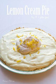 Making it Milk-free: Lemon Cream Pie {top 8 + gluten free} - substitute potato starch instead of corn starch for corn free Gluten Free Deserts, Gluten Free Sweets, Gluten Free Cakes, Allergy Free Recipes, Soy Allergy, Lemon Recipes, Gf Recipes, Healthy Recipes, Lemon Cream Pies