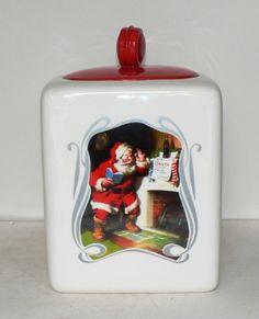 Gibson Coca-Cola 75th Anniversary Santa Cookie Jar