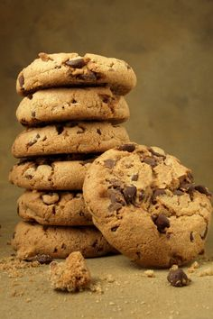 Amazing Cookies with Chocolate Chips! Pastry Recipes, Sweets Recipes, Cookie Recipes, Greek Sweets, Greek Desserts, Cupcakes, Cupcake Cakes, Greek Cookies, Macarons