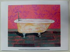 $17.50  Bathroom ART Print BY Ramona JAN Fantasy TUB I   eBay #bathroom #bathtub #wallart