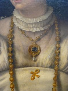 detail portrait of a lady, 1540, Moretto da Brescia, NGA Washinton DC