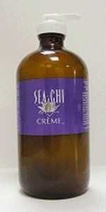 Sea Chi Creme 16oz/480ml by Sea Chi Organics. $150.00. excellent treatment for sunburn, burns, skin irritation. all natural healing creme. contains Kombucha Tea, Wildcrafted & Organic Essential Oils and Certified Organic Herbs. promotes healing and new cell growth. can also be used as a daily moisturizer. Sea Chi Creme is known to be effective when used for: brown spots, sunburn, burns, blemishes, psoriasis, eczema, bruises, stretch marks and wrinkles.  Sea Chi C...