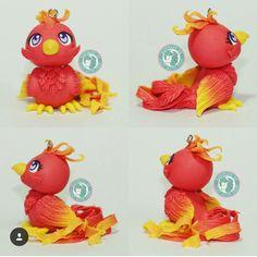Figurine phoenix Harry Potter fimo