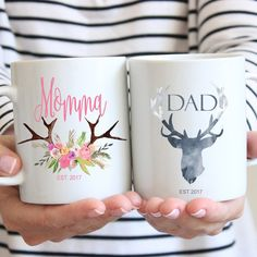 Please send the date you would like on your mug in a convo or note to seller! Congrats and Thank you!  -Material: 100% White Ceramic -Size: 11 Fluid oz. -Care: Dishwasher + Microwave Safe CHRISTMAS ORDERS ( NOT RUSHED) MUST BE ORDERED BY FRIDAY DECEMBER 9TH!!  RUSH ORDERS FOR $20 AND YOUR ORDER SHIPS IN 2 BUSINESS DAYS PRIORY MAIL. LAST DAY FOR RUSH ORDERS IS DECEMBER 17TH! HAPPY HOLIDAYS !  ALL MUGS ARE HAND MADE TO ORDER NO REFUNDS OR RETURNS SORRY