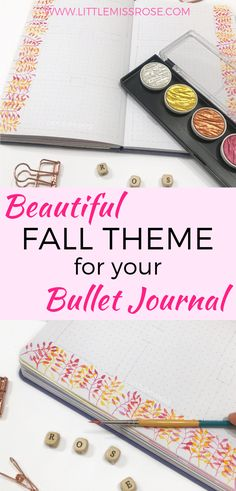 Learn how to paint these beautiful fall leaves in your bullet journal for a lovely autumn theme weekly spread Goal Journal, Bullet Journal Font, Bullet Journal Printables, Bullet Journal How To Start A, Journal Template, Bullet Journal Junkies, Journal Ideas, Printable Planner, Planner Stickers